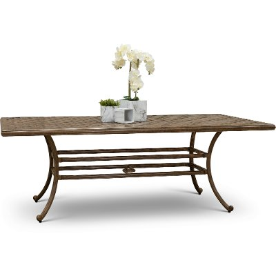 Traditional Cast Patio Dining Table - Castle Rock