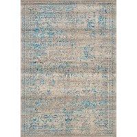 8 x 11 Large Distressed Gray and Blue Rug - Parlour