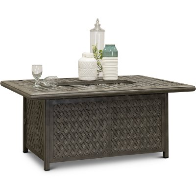 Gray Metal Cast Patio Fire Pit Table - Macan