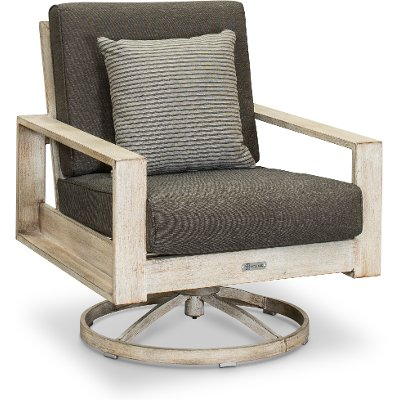 White Birch Patio Swivel Chair - Frisco