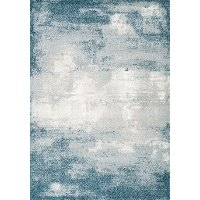 8 x 11 Large Teal, Gray, and Cream Area Rug - Sable