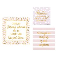 8 Inch Multi Color and Gold Foil Motherhood MDF Wall Block