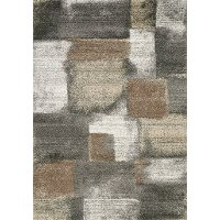 8 x 11 Large Stonework Gray and Brown Area Rug - Breeze