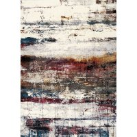 5 x 8 Medium Banded Multicolored Cream Area Rug - Sidra