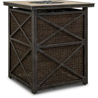 Wicker Bar Height Patio Fire Pit Tower - Franklin