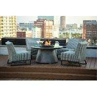 Modern Round Patio Fire Pit Set - Del Mar