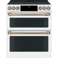 CES750P4MW2 Cafe Double Oven Electric Smart Range - 6.7 cu. ft. White