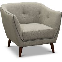 Mid Century Modern Light Gray Chair - Avery
