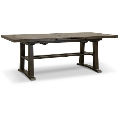 Cast Aluminum Extendable Patio Dining Table - Davenport