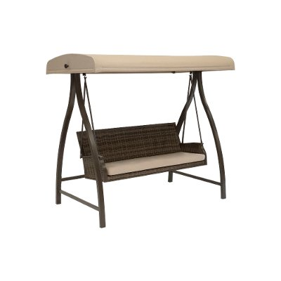 Cinnamon Brown Patio Swing Wood Canyon Rc Willey Furniture Store
