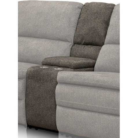 Silver Gray 6 Piece Power Reclining Sectional Sofa