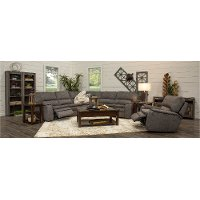 Silver Gray 5 Piece Power Reclining Sectional Sofa - Cyprus