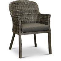 Dark Gray Wicker Patio Dining Chair - Lakeside