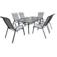 Charcoal Stackable Patio Dining Chair - Mayfield