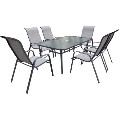 Charcoal 5 Piece Patio Dining Set Mayfield