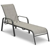 Charcoal Gary Patio Chaise Lounge - Mayfield