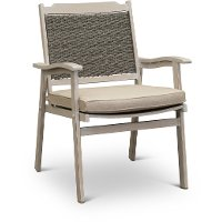 White Washed Patio Armchair - Lake House