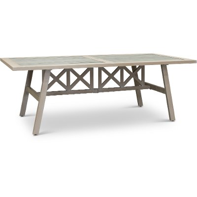 White Wash Patio Dining Table - Lake House