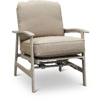 Sunbrella White Washed Patio Motion Chair - Lake House