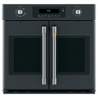 CTS90FP3MD1 Cafe 30 Inch Smart French Door Single Wall Oven - 5.0 cu. ft. Matte Black
