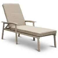 White Washed Patio Chaise Lounge Chair - Lake House