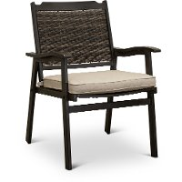 Woven Patio Arm Chair - Glenwood
