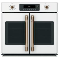 CTS90FP4MW2 Cafe 30 Inch Smart French Door Single Wall Oven - 5.0 cu. ft. Matte White