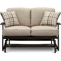 Ash Patio Loveseat Glider - Glenwood
