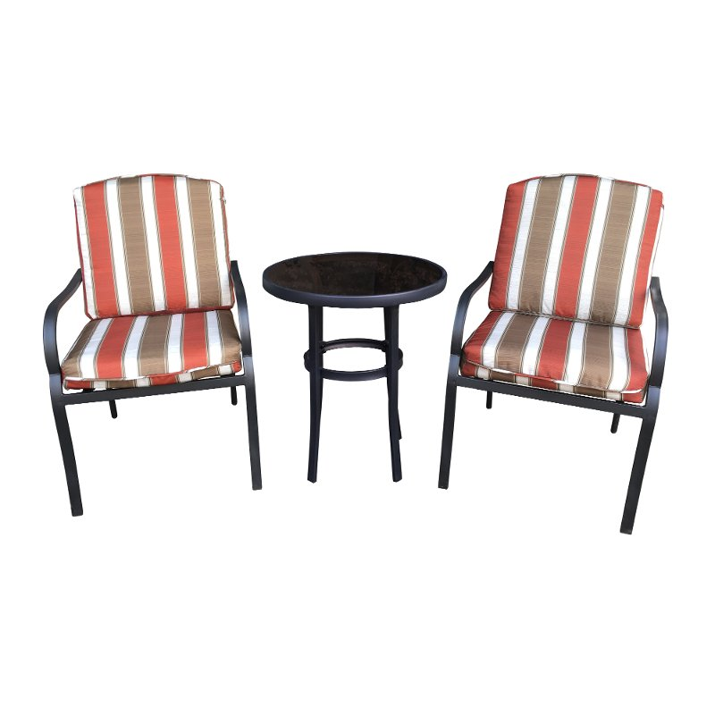 Maroon And Brown 3 Piece Bistro Set Providence Rc Willey Furniture