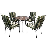 Striped Green 5 Piece Patio Dining Set -  Lake Shore
