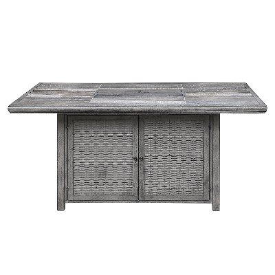 Gray Rectangular Patio Fire Pit - Alderbrook