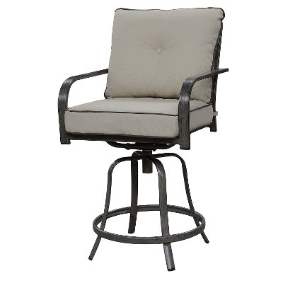 Taupe 24 Inch Patio Bar Stool - Alderbrook