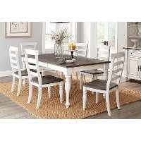 French Country White Two-Tone 5 Piece Dining Set - Bourbon County