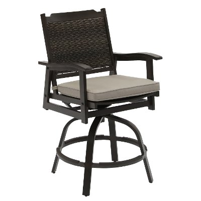 Wicker Patio Swivel Bar Stool - Glenwood