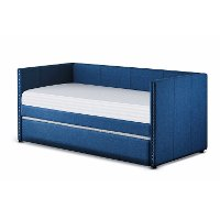 Classic Contemporary Blue Daybed with Trundle - Therese