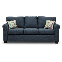 Casual Contemporary Navy Blue Sofa - Wall St.
