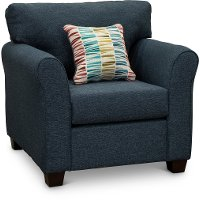 Casual Contemporary Navy Blue Chair - Wall St.