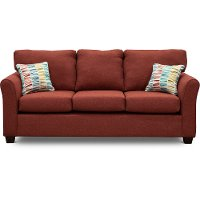 Casual Contemporary Ruby Red Sofa - Wall St.