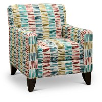 Contemporary Multicolor Accent Chair - Wall St.
