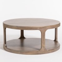 Misty Ash Round Coffee Table - Mason