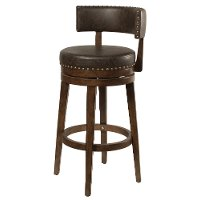 4839-826 Walnut Brown 26 Inch Swivel Counter Height Stool - Lawton