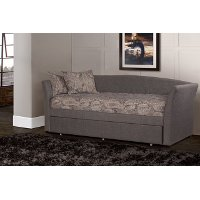 KIT Contemporary Gray Daybed with Trundle - Montgomery