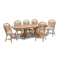 Country Chestnut Trestle Base Dining Table - Classic Chestnut