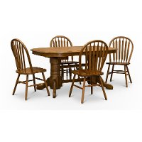 Classic Country Chestnut Brown 5 Piece Dining Set - Classic Chesnut
