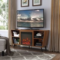 Acorn Brown 52 Inch Angled Fireplace TV Stand