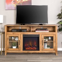 Driftwood 58 Inch Highboy Fireplace TV Stand