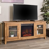 Brown Traditional 58 Inch Fireplace TV Stand