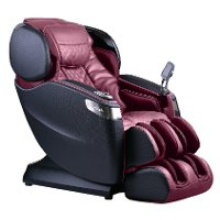 KIT Black and Burgundy L-Track Smart Massage Chair