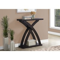 Brown Contemporary Accent Table