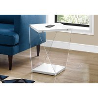 White and Acrylic Modern Accent Table